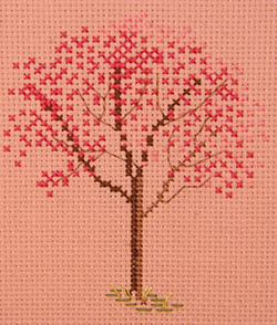 Red Bud Tree - FO024 (on pink fabric)