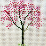 Red Bud Tree - FO024 (on white fabric)